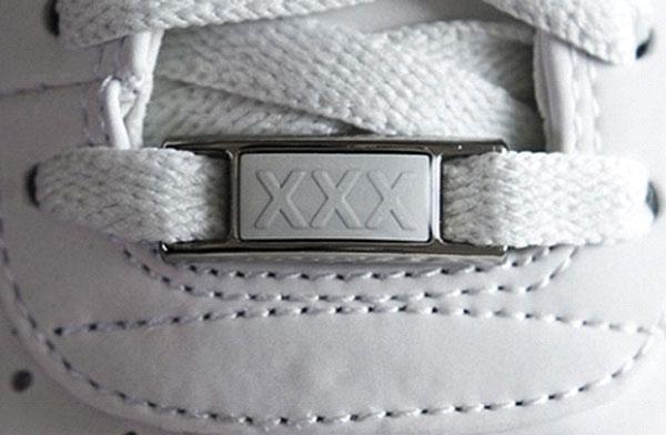 Cusaturile pantofului Nike si pielea