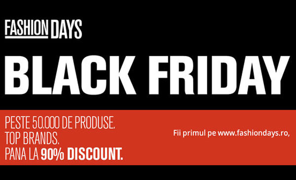 Pana la 90 la suta discount la FashionDays de Black Friday