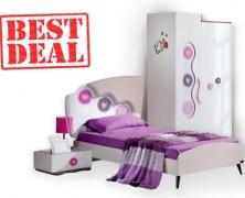 Set mobilier pentru camera copiilor Point Kids Rengarenk de la eMAG
