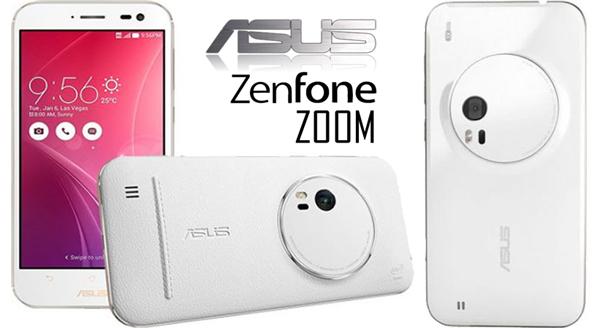 Telefon mobil Asus Zenfone Zoom ZX551ML 128GB LTE 4G, 4GB RAM, Alb