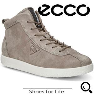 Ghete casual dama ECCO Soft 1 (Gri Warm Grey)
