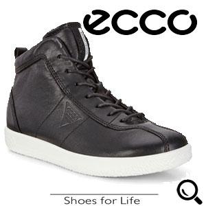 Ghete casual dama ECCO Soft 1 ( Negre)