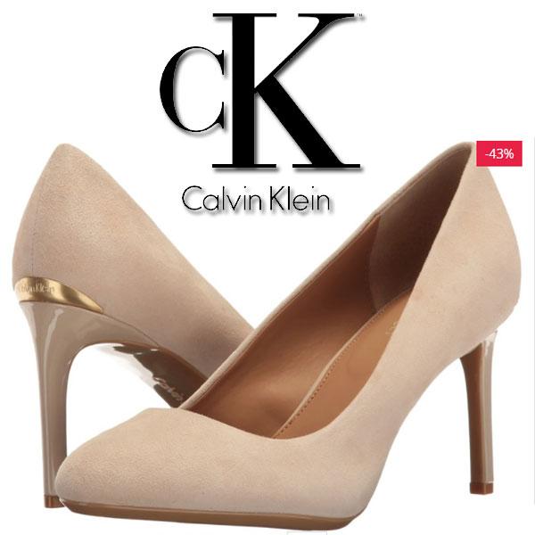 Pantofi Calvin Klein Salsha Femei Sand Suede