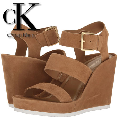 Platforme Calvin Klein Hailey Caramel Suede