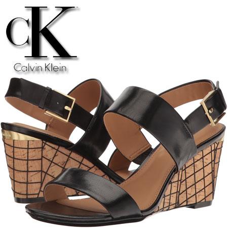 Platforme Calvin Klein Peony negre