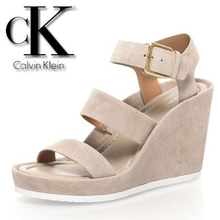 Platforme Calvin Klein piele intoarsa cu platforma Hailey