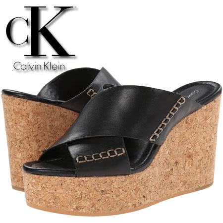 Platforme din piele Calvin Klein Jeans Adeli