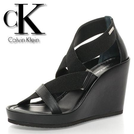 Platforme negre Calvin Klein cui benzi elastice