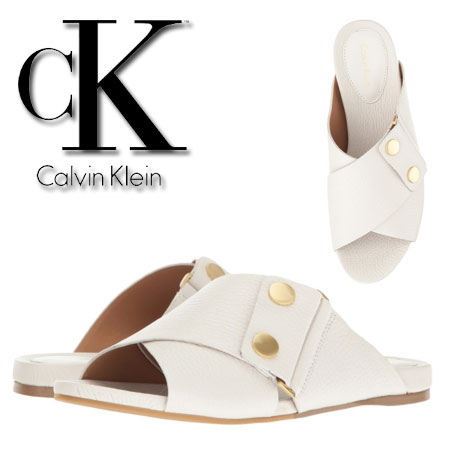 Sandale albe Calvin Klein Pamice Femei