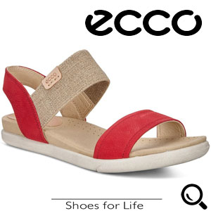 Sandale casual dama ECCO Damara (Rosii Chili Red)