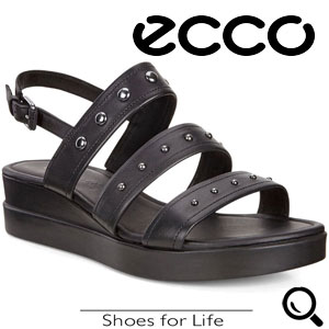 Sandale casual dama ECCO Touch Plateau (Negre)