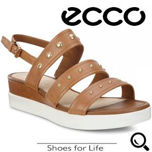 Sandale casual dama ECCO Touch Sandal Plateau (maro)