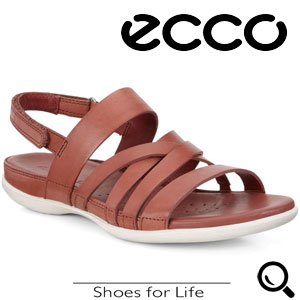 Sandale casual rosii ECCO Flash