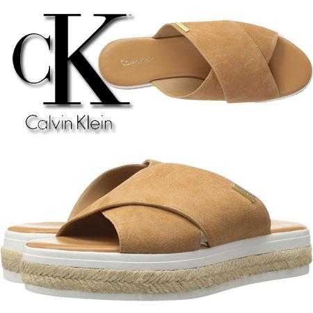 Sandale din piele Calvin Klein Jupare Femei