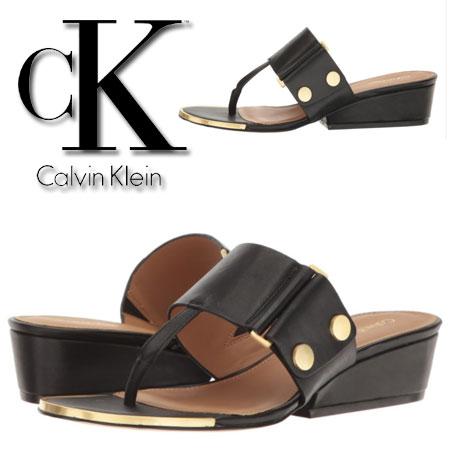 Sandale elegante negre Calvin Klein Carlie Femei
