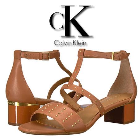 Sandale maro cu tinte Calvin Klein Divina