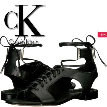 Sandale negre Calvin Klein Effie Femei