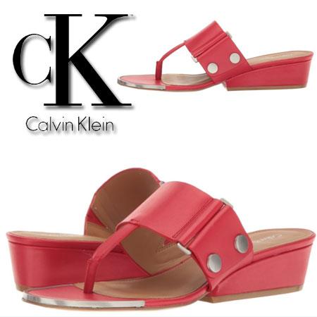 Sandale rosii Calvin Klein Carlie Femei
