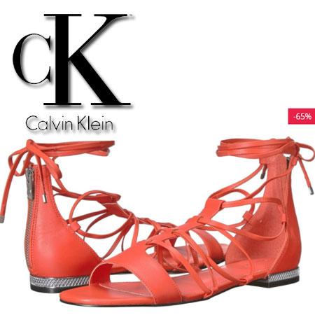 Sandale rosii Calvin Klein Elina Femei