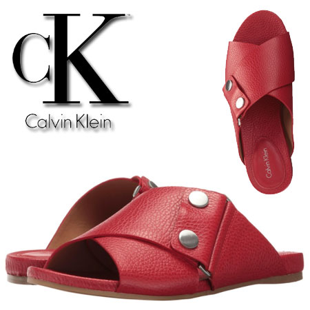 Sandale rosii Calvin Klein Pamice Femei