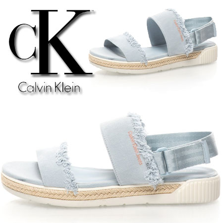 Sandale slingback bleu Muriel Calvin Klein