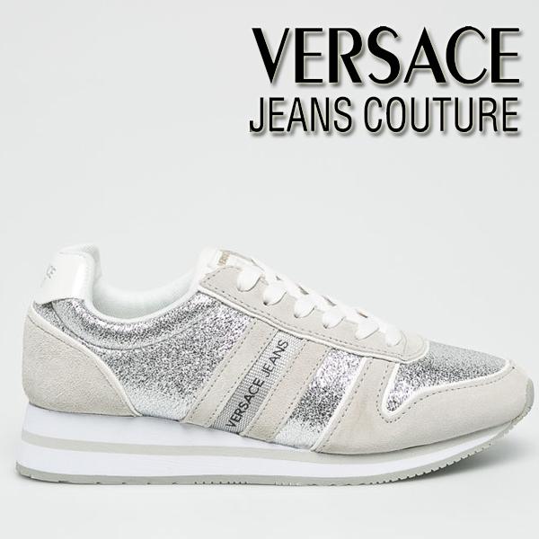 Adidasi arginti dama Versace Jeans Couture