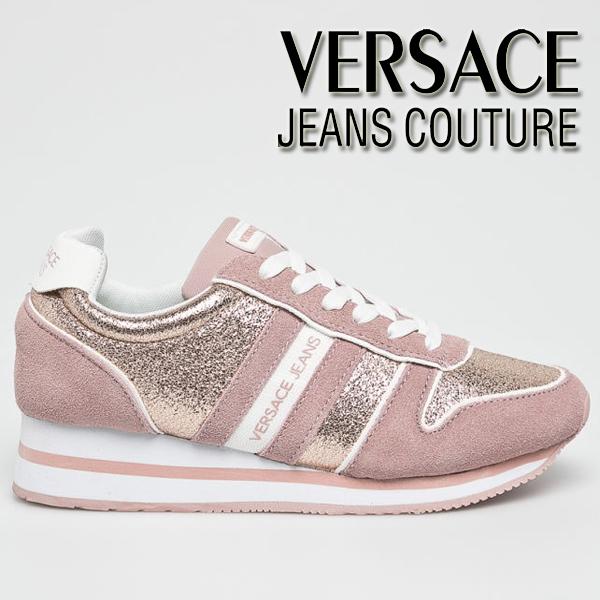 Adidasi roz de dama Versace Jeans Couture