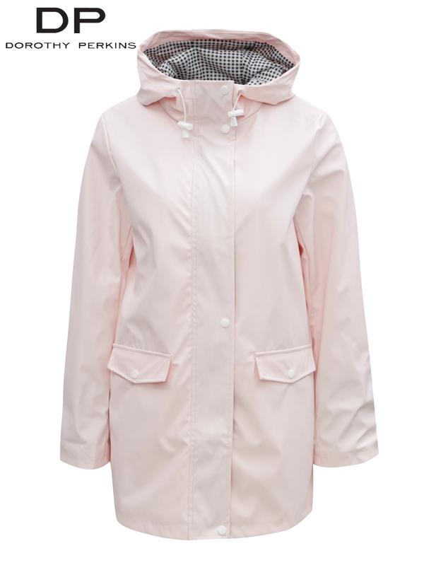 Jacheta roz deschis impermeabila la ploaie cu buzunare Dorothy Perkins